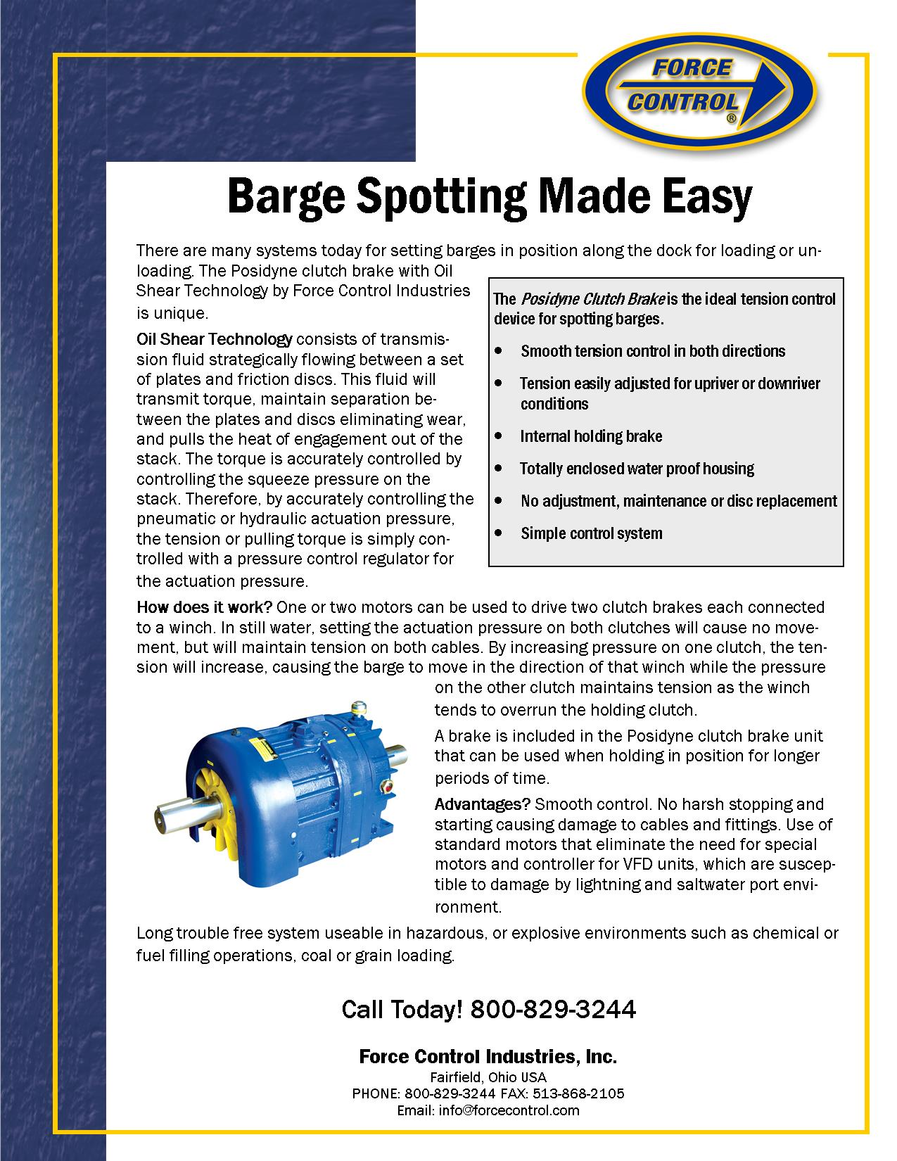Flyer Barge Spotting Made Easy